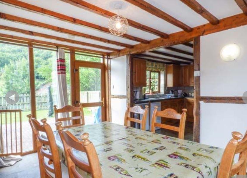 Dining room at self catering near Ledbury
