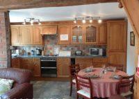 Kitchen in holiday cottage near Ledbury