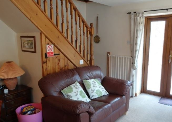 Living room at holiday home near Ledbury