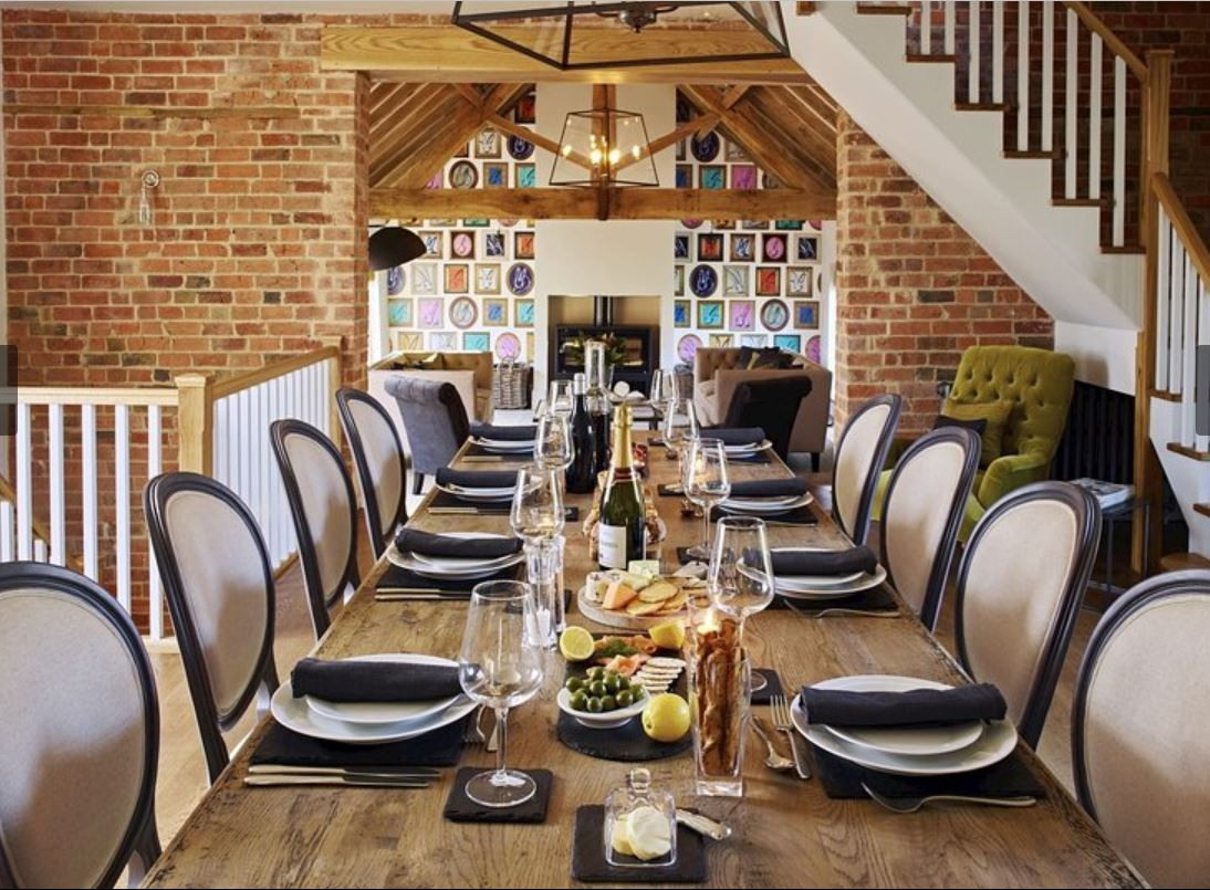 Dine in style at luxury holiday home Ledbury