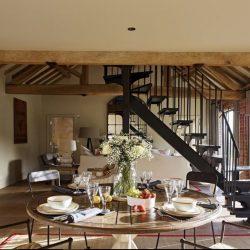 Living dining room at luxury holiday home Ledbury