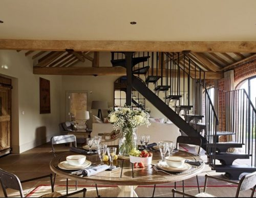 Living dining room at luxury holiday home Ledbury