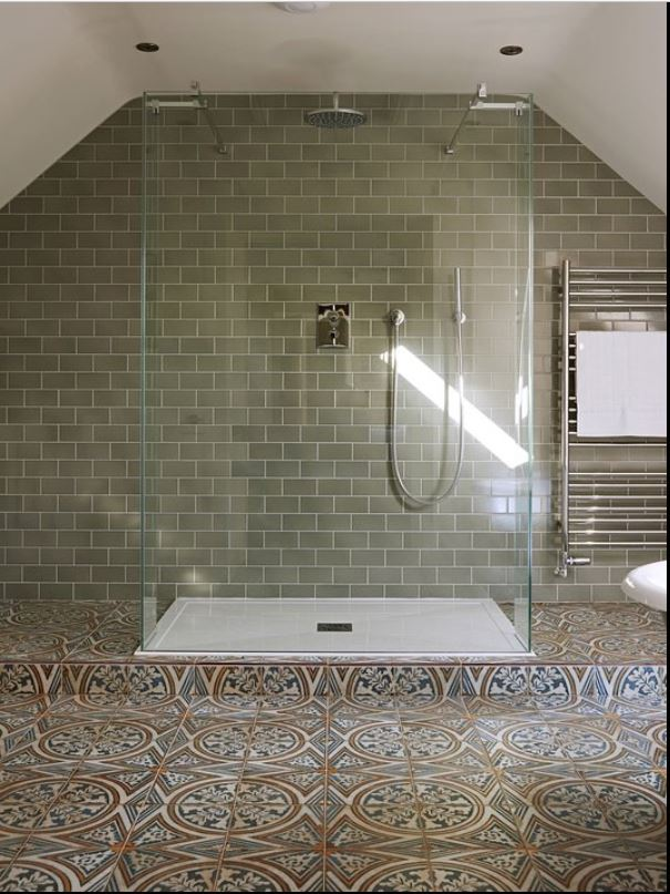 Walk in shower at luxury holiday home Ledbury