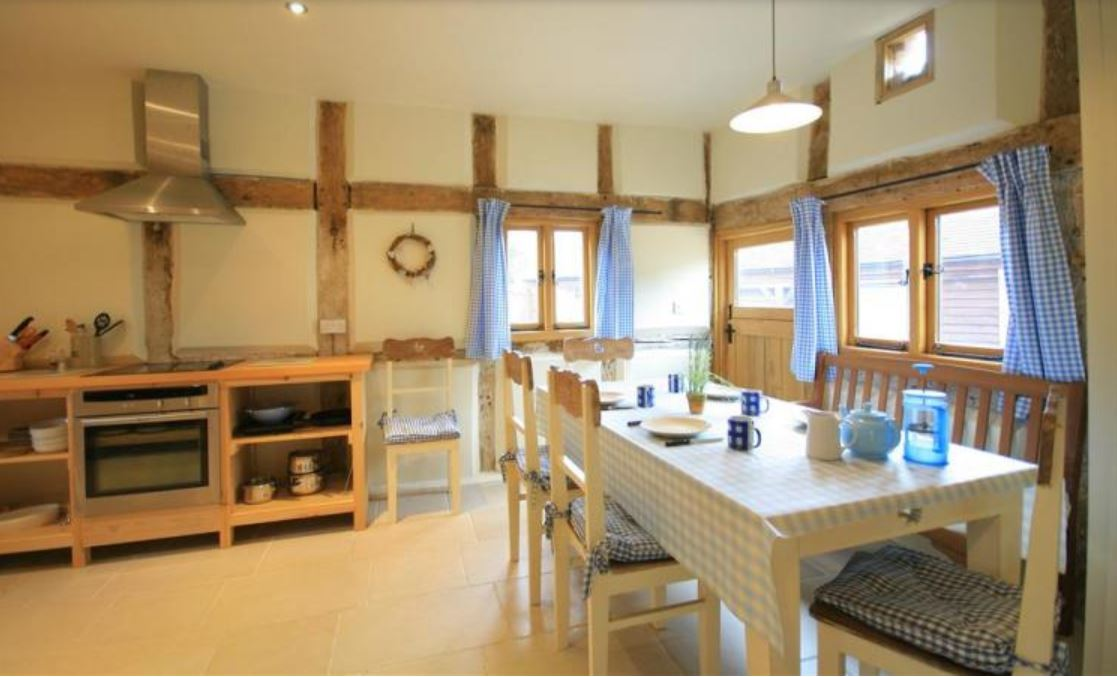 Dining area at self catering Ledbury