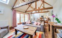 Open plan living area at luxury self catering Ledbury