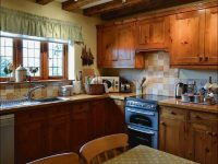 kitchen at self catering close to Ledbury