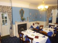 Breakfast room at hotel in Ledbury