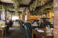Dining room at luxury hotel in Ledbury