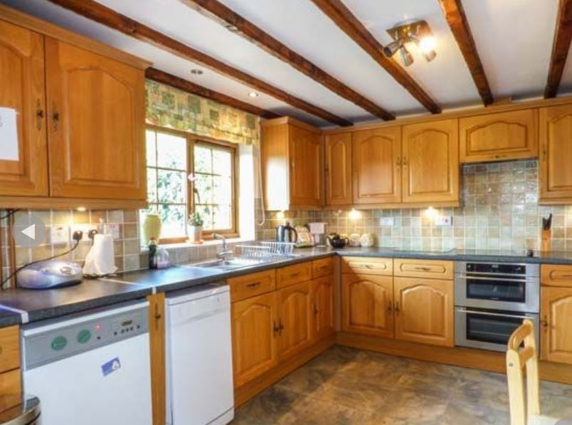 Kitchen at self catering near Ledbury