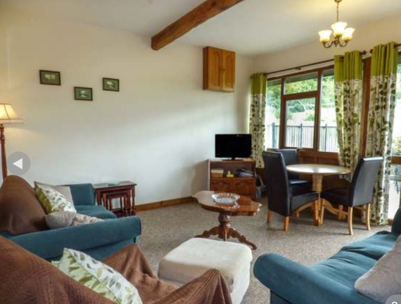 Living room at holiday cottage near Ledbury