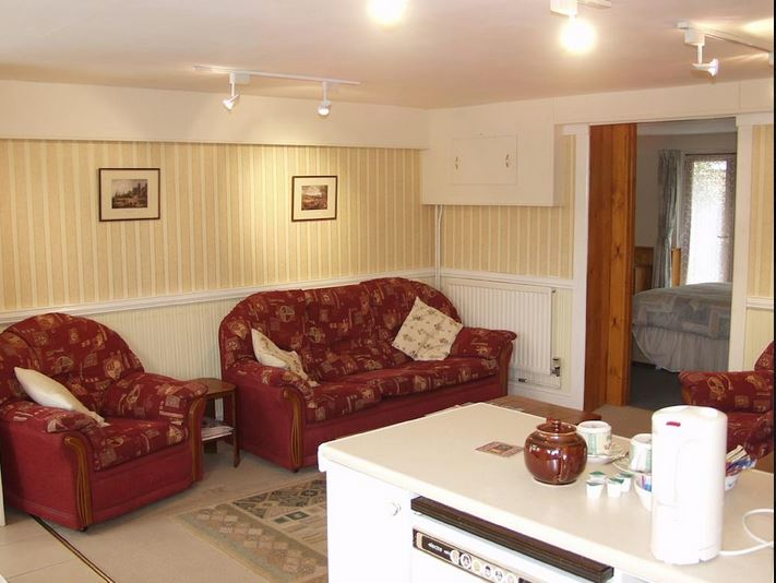 Living area at self catering Ledbury