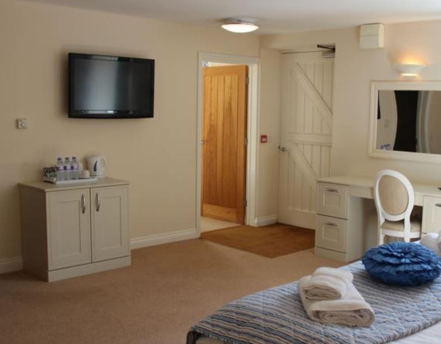Guest bedroom at hotel near Ledbury