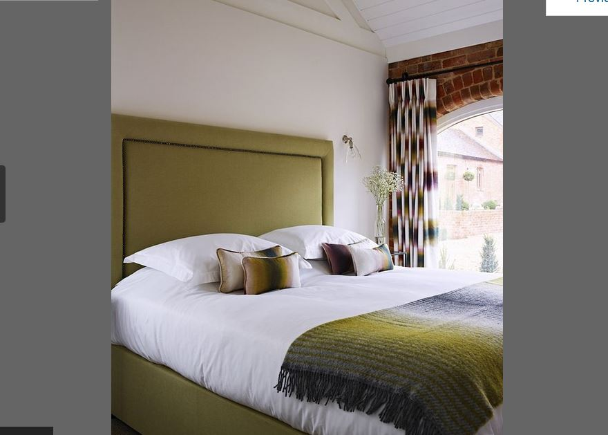 Bedroom at luxury self catering Ledbury