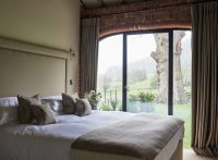 Bedroom with a view at luxury holiday home Ledbury