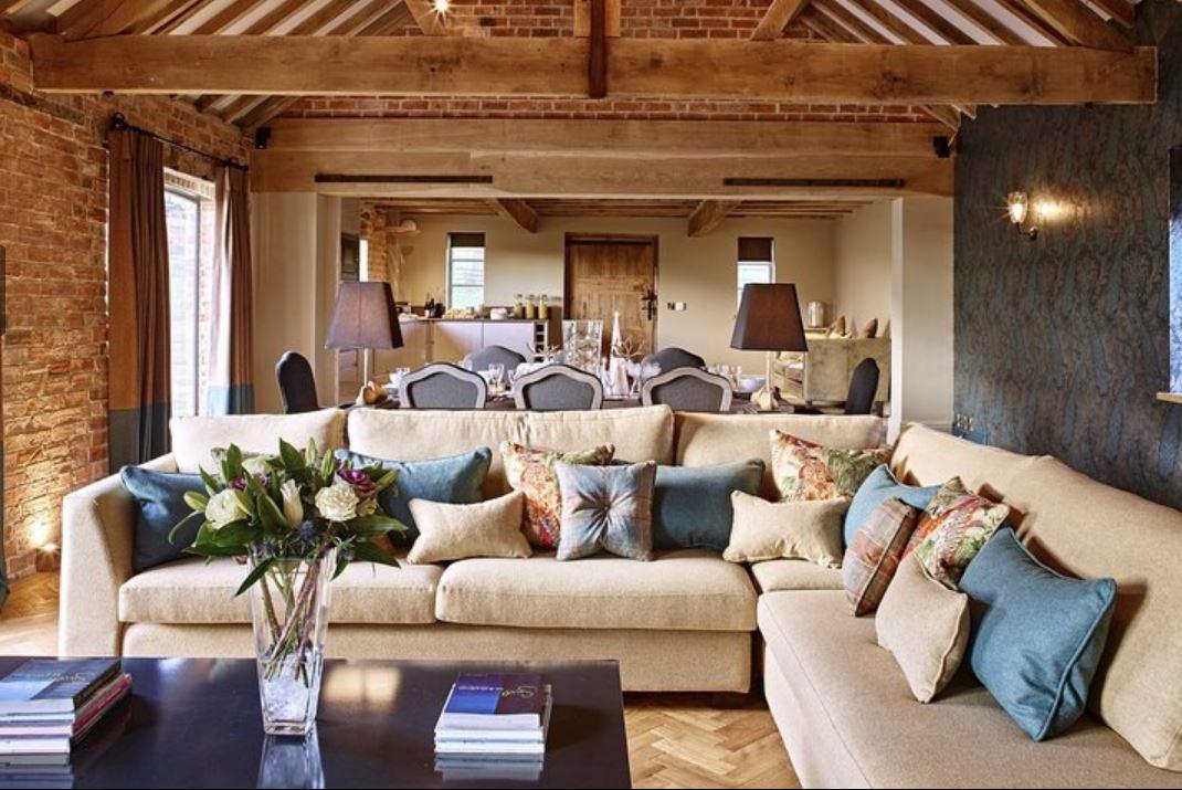 Sitting area at luxury self catering Ledbury