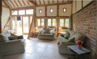 Lounge area at self catering Ledbury