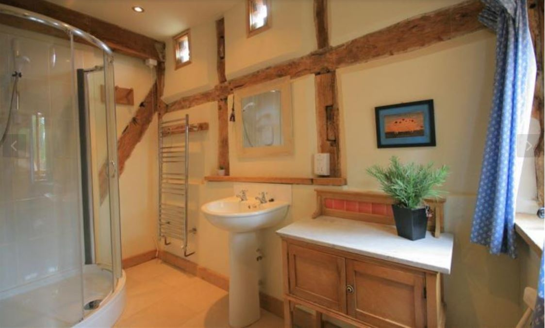 Shower room at self catering Ledbury