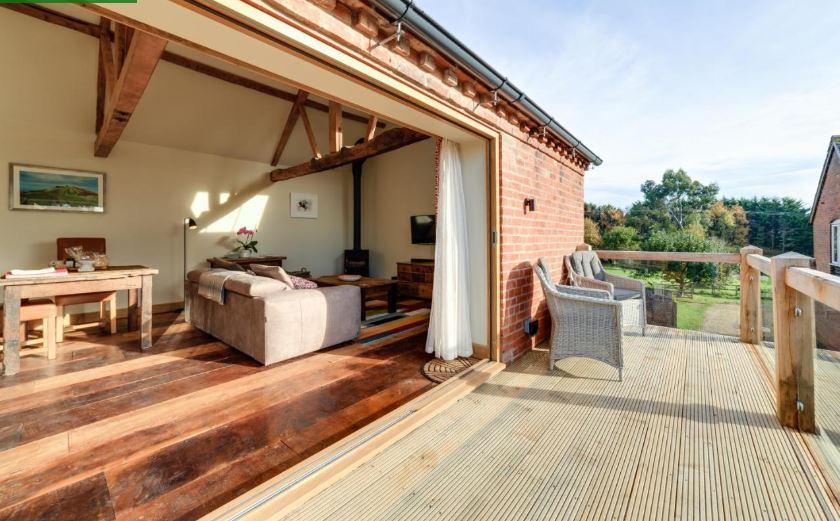Enjoy the balcony at Ledbury self catering