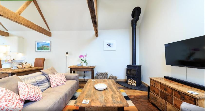 Living area at romantic self catering Ledbury